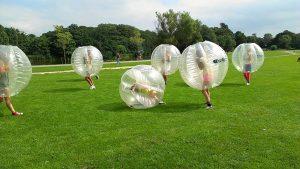 Bubbel voetbal teams